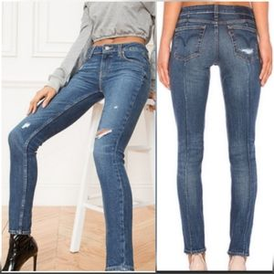 LEVI'S 711Altered Distressed Skinny Jeans 25x26